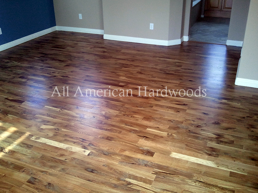 These Are All Solid Hardwood Floors Installed And Finished In Place