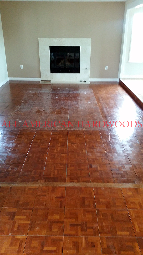 Walnut Parquet Refinish North County San Go By Licensed Contractor