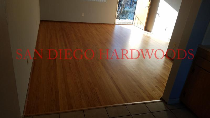 REFINISH SOLID OAK FLOORING SAN DIEGO. FLOORING CONTRACTOR SAN DIEGO LICENSED