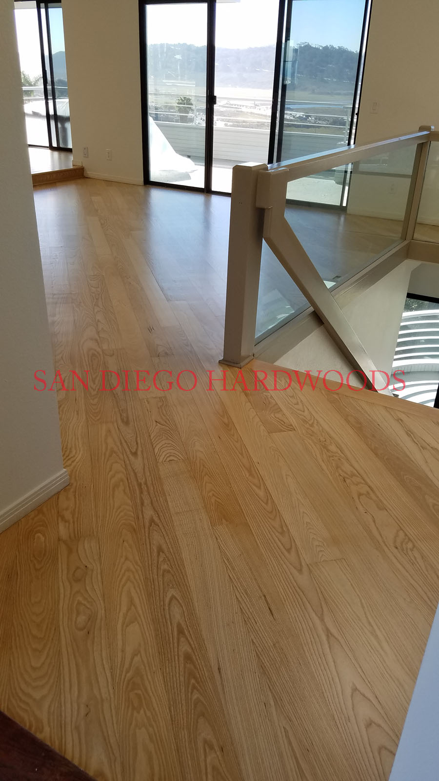 RESTORE HARDWOOD FLOOR SAN DIEGO SOLID ASH FLOORING REFINISHED BONA FINISH