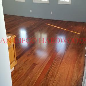brazillian cherry flooring refinished on Coronado island by licensed contractor