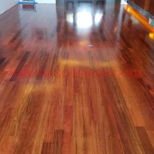 BRAZILLIAN CHERRY FLOOR REFINISHING IN SAN DIEGO. CORONADO CONTRACTOR