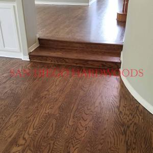 Custom stained red oak flooring san diego hardwood flooring contractor