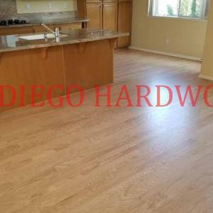 red oak floor restored refinished in san diego county. licensed professional