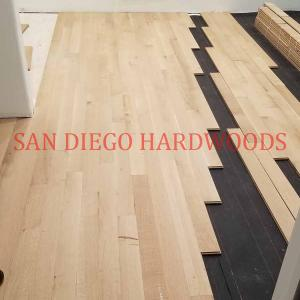 Solid unfinished white oak installed in san diego. Install nail down hardwood