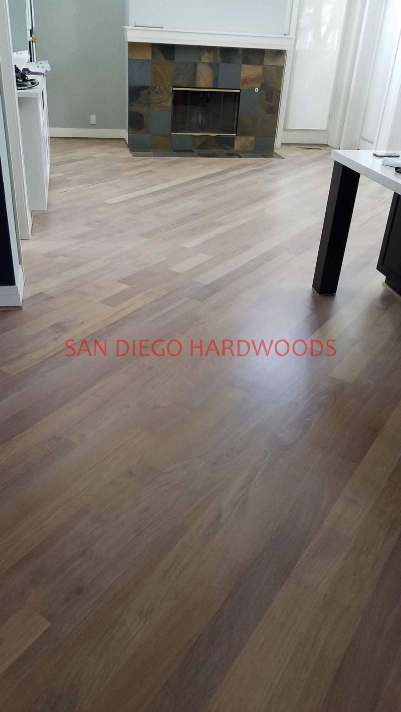 Bleached and Stained Cherry Hardwood Floor Solana Beach San Diego